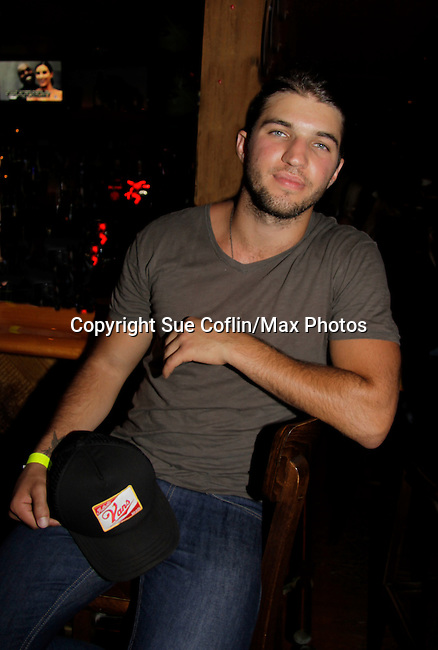 Bryan Craig - General Hospital donated his time at 15th Southwest Florida Soapfest 2014 Charity Weekend with a Bartending/Karaoke get together on May 26, 2104 at Porky's, Marco Island, Florida. (Photo by Sue Coflin/Max Photos)