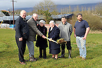2-3-2014: Sr. Mary Kelliher, Brother John Guinane and Sr Canisius from the Presentation Order in Miltown, County Kerry turn the sod on the &euro;750,000 Nagle-Rice Sports Complex in the village at the weekend. The complex will feature a main sports hall, meeting rooms, stage and ancillary rooms. Also in picture are from left, Mike Mccarthy, Cllr Michael O&quot;Shea and Don Myers, Chairman. The Presenation Order have had a presence in the small Kerry village since 1842.<br /> <br /> Picture by Don MacMonagle<br /> <br /> FREE Photo from Presentation Order:
