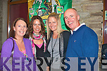 4945-4948.---------.Night Out.---------.enjoying the weekend music festival at the Station house bar/grill Blennerville last Saturday night were L-R Helen Pierse,Jackie Ruttledge with Tara and Denis Murphy all Tralee.