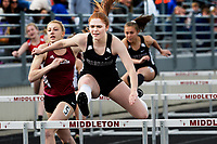 Waunakee's Hayley Krysinski places first in the 100-meter hurdles with a time of 15.76 seconds during the Wisconsin WIAA Division 1 high school track and field regional on Monday, 5/20/19 at Middleton High School