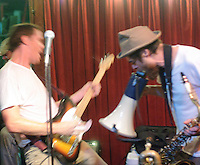 Morning 40 Federation (faint), Happy Talk Band, Graveyard Jaw, and Guitar Lightnin' Lee raise the volume @ d.b.a. to buy Mr. Okra a new truck!
