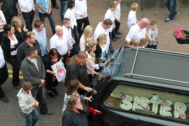The Funeral of funeral of slain mother Jacqueline McDonagh in Navan Co Meath...Picture: Fran Caffrey/ www.newsfile.ie.