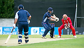ICC World T20 Qualifier (Warm up match) - Canada V Western District Cricket Union select at Grange CC, Edinburgh - the ball deceives West District bat Bradley Williams but well taken by Canada keeper Hamza Tariq — credit @ICC/Donald MacLeod - 06.7.15 - 07702 319 738 -clanmacleod@btinternet.com - www.donald-macleod.com
