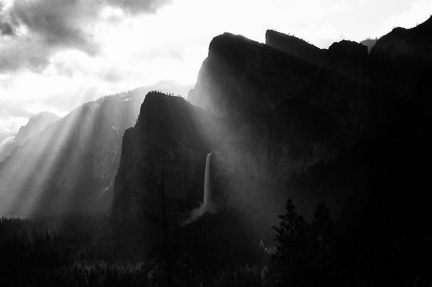 Three Brothers and Bridalveil Falls, 2019, Yosemite, CA   Film