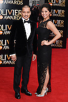 Jon Jon Briones and Eva Noblezada  arrives for the Olivier Awards 2015 at the Royal Opera House Covent Garden, London. 12/04/2015 Picture by: Steve Vas / Featureflash