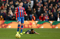3rd November 2019; Selhurst Park, London, England; English Premier League Football, Crystal Palace versus Leicester City; A dejected James McCarthy of Crystal Palace as he gives a foul away on Ricardo Pereira of Leicester City  - Strictly Editorial Use Only. No use with unauthorized audio, video, data, fixture lists, club/league logos or 'live' services. Online in-match use limited to 120 images, no video emulation. No use in betting, games or single club/league/player publications