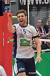 17.01.2018,  Lueneburg GER, VBL, SVG Lueneburg vs Bergische Volleys Solingen im Bild Cody Kessel (Lueneburg #05) jubelt/ Foto © nordphoto / Witke