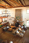 Hawaii: Molokai, The Lodge at Molokai Ranch, a major lodging with a handsome facade, swimming pool, Great Room lobby, and ranch-decor guest roooms..Photo himolo189-72000..Photo copyright Lee Foster, www.fostertravel.com, lee@fostertravel.com, 510-549-2202