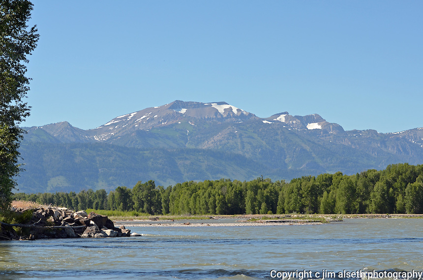 Rafting down the Snake River provided some spectacular scenery...