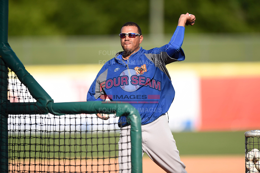 ***Temporary Unedited Reference File***Midland RockHounds  during a game against the San Antonio Missions on April 21, 2016 at Nelson W. Wolff Municipal Stadium in San Antonio, Texas.  Midland defeated San Antonio 9-2.  (Mike Janes/Four Seam Images)