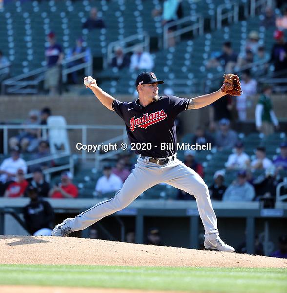 Nick Wittgren - Cleveland Indians 2020 spring training (Bill Mitchell)