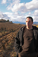 Jean-Baptiste Senat Domaine Jean Baptiste Senat. In Trausse. Minervois. Languedoc. Owner winemaker. France. Europe. Vineyard.