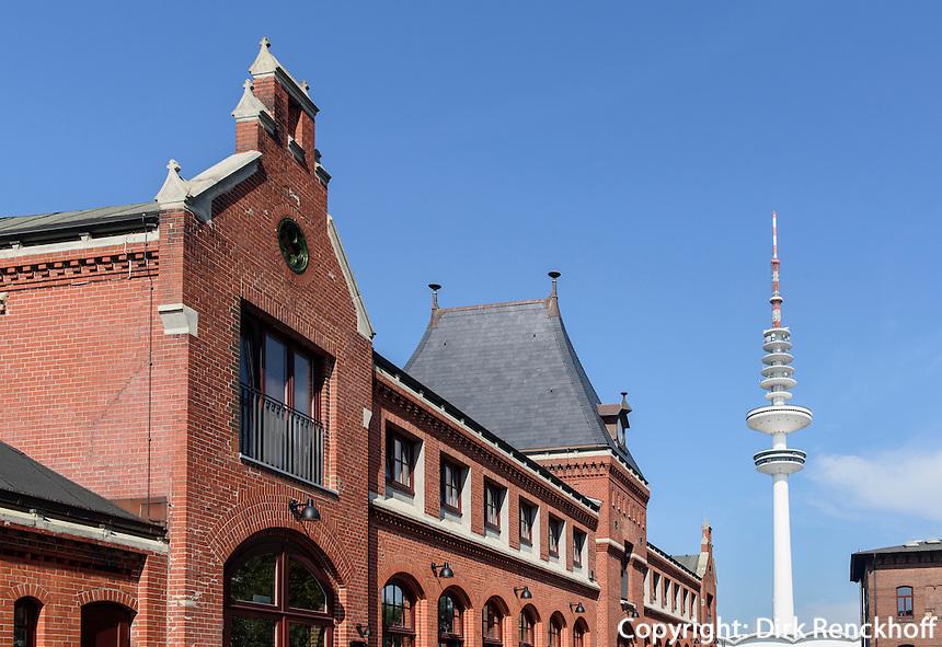 Schanzen-H&ouml;fe, Lagerstr.34 und Fernsehturm, Sternschanze, Hamburg-Altona, Deutschland<br /> Schanzen courts, Lagerstr.34  and tv-tower, Schanzenviertel, Hamburg-Altona,  Germany
