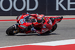 Andrea Dovizioso (4) in action during the Red Bull Grand Prix of the Americas race at the Circuit of the Americas racetrack in Austin,Texas.