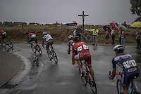 after a sunny start the weather soon changed <br /> <br /> 12th Eneco Tour 2016 (UCI World Tour)<br /> Stage 7: Bornem › Geraardsbergen (198km)