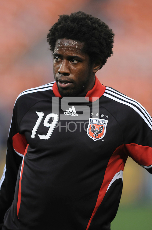 DC United midfielder Clyde Simms (19) during pre-game warm ups, Chicago Fire tied DC United 1-1 at  RFK Stadium, Saturday March 28, 2009.