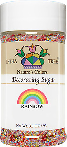 10260 Nature's Colors Rainbow Decorating Sugar, Small Jar 3.3 oz