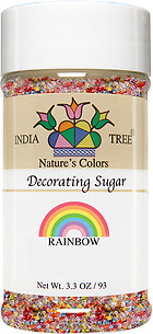 10260 Nature's Colors Rainbow Decorating Sugar, Small Jar 3.3 oz, India Tree Storefront