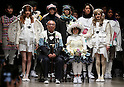 "March 14, 2016, Tokyo, Japan - Models display creations designed by ha-ha design team during the ""haha"" 2016 autumn/winter collection in Tokyo on Monday, March 14, 2016 as part of Tokyo fashion week. Tokyo fashion week runs from March 14 through 19.  (Photo by Yoshio Tsunoda/AFLO) LWX -ytd-"