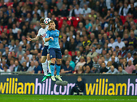 Tottenham's Ben Davies and Newcastle's Matt Ritchie during the EPL - Premier League match between Tottenham Hotspur and Newcastle United at Wembley Stadium, London, England on 9 May 2018. Photo by Andrew Aleksiejczuk / PRiME Media Images.