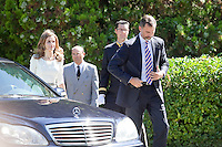 Prince Felipe of Spain (L) and Princess Leticia of Spain (R) receive King Willem-Alexander of The Netherlands and Queen Maxima of The Netherlands at Zarzuela Palace on September 18, 2013 in Madrid, Spain. (Victor J Blanco/Alterphotos) /nortephoto.com