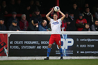 Will Wright of Dagenham during Dagenham & Redbridge vs Maidenhead United, Vanarama National League Football at the Chigwell Construction Stadium on 7th December 2019