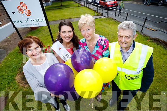 Launch of Hospice Balloon day for those who have died to cancer which takes place on Sunday 20th August at 4pm, From left: Mary Shanahan, Kerry Hospice, Kerry Rose Breda O'Mahony, Mairead Fernane and Ted Moynihan, Kerry Hospice.