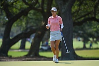 Azahara Munoz (ESP) after sinking her par putt on 1 during round 4 of the 2019 US Women's Open, Charleston Country Club, Charleston, South Carolina,  USA. 6/2/2019.<br /> Picture: Golffile | Ken Murray<br /> <br /> All photo usage must carry mandatory copyright credit (© Golffile | Ken Murray)