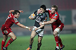 Tiernan O'Halloran goes for the gap..RaboDirect Pro12.Scarlets v Connacht.02.03.12.©STEVE POPE
