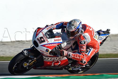 11th November 2017, Gran Premio Motul de la Comunitat Valenciana, Valencia, Spain; MotoGP of Valencia, Saturday qualifying; Danilo Petrucci (Repsol Honda) during the qualifying sessions