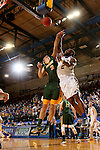 BROOKINGS, SD - DECEMBER 28:  Tevin King #2 from South Dakota State shoots over Paul Miller #2 from North Dakota State during their game Wednesday night at Frost Arena in Brookings. (Dave Eggen/Inertia)