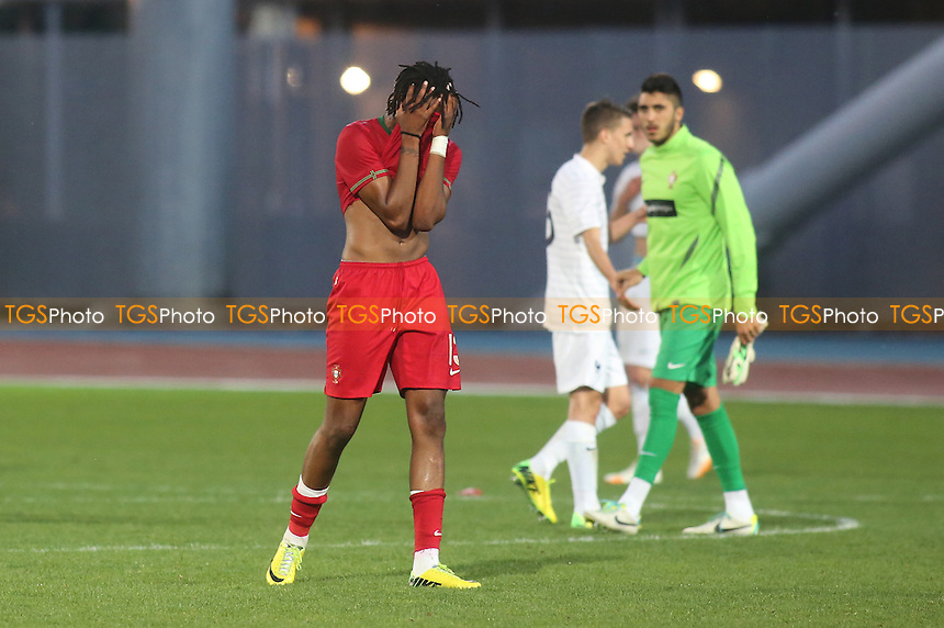 Ruben Semedo of Portugal was distraught after losing to France in the Toulon Tournament - France Under-20 vs Portugal Under-20 - Toulon Tournament Group A Football at Lagrange Stadium, Toulon, France - 29/05/14 - MANDATORY CREDIT: Paul Dennis/TGSPHOTO - Self billing applies where appropriate - contact@tgsphoto.co.uk - NO UNPAID USE
