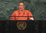 72 General Debate – 22 September <br /> <br /> His Excellency Lyonchoen Tshering Tobgay, Prime Minister of the Kingdom of Bhutan
