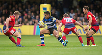 Bath Rugby's Ben Tapuai in action during todays match<br /> <br /> Photographer Bob Bradford/CameraSport<br /> <br /> Aviva Premiership - Bath Rugby v Worcester Warriors - Saturday 7th October 2017 - The Recreation Ground - Bath<br /> <br /> World Copyright &copy; 2017 CameraSport. All rights reserved. 43 Linden Ave. Countesthorpe. Leicester. England. LE8 5PG - Tel: +44 (0) 116 277 4147 - admin@camerasport.com - www.camerasport.com