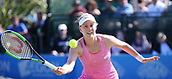 June 15th 2017, Nottingham, England; WTA Aegon Nottingham Open Tennis Tournament day 6;  Alison Riske of USA plays a forehand volley during her game against Magdalena Rybarikova of The Slovak Republic