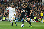 Real Madrid´s Jese Rodriguez and Paris Saint-Germain´s David Luiz during Champions League soccer match between Real Madrid  and Paris Saint Germain at Santiago Bernabeu stadium in Madrid, Spain. November 03, 2015. (ALTERPHOTOS/Victor Blanco)