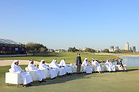 Dignatories at presentation after the final round of the Commercial Bank Qatar Masters, Doha Golf Club, Doha, Qatar. 10/03/2019<br /> Picture: Golffile | Phil Inglis<br /> <br /> <br /> All photo usage must carry mandatory copyright credit (&copy; Golffile | Phil Inglis)