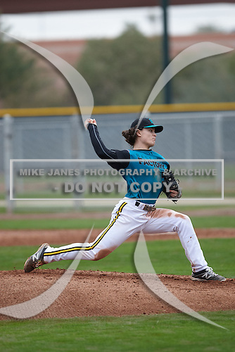 Miko Rodriguez (5) of Forest Hills Central High School in Ada, Michigan during the Under Armour All-American Pre-Season Tournament presented by Baseball Factory on January 15, 2017 at Sloan Park in Mesa, Arizona.  (Kevin C. Cox/Mike Janes Photography)