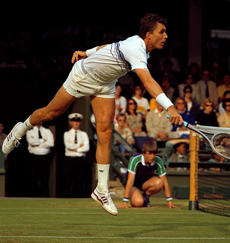 Photo. Steve Holland.Wimbledon Championship, London. 1988.Ivan Lendl