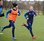 21.02.2019: Rangers training: Andy Halliday and Steven Davis