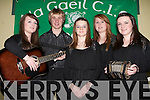 SCOR NA NOG: The Na Gaeil Scor Na nOg team who will competed in the Munster Finals in Mallow on 31st of January l-r: Hilary White, Eoghain Sheehy, Clodagh Foley, Anna Hayes and Amy Stone.