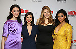 "Erin Neufer, Jessica Naimy, Tara Summers, Rana Roy attends the Broadway Opening Night After Party for ""Ink"" at the Copacabana on April 24, 2019  in New York City."