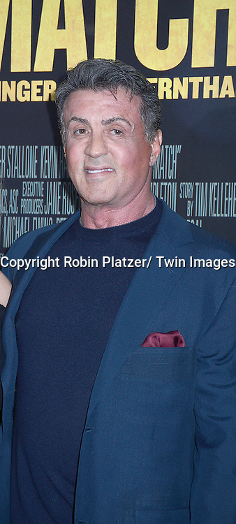 "Sylvester Stallone attends the World Premiere of ""Grudge Match"" at the Ziegfeld Theatre in New Yok City on December 16, 2013."