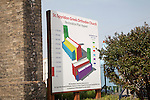 Restoration Plan Appeal sign for St Spyridon Greek Orthodox church, Great Yarmouth, Norfolk, England