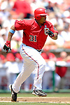 18 June 2006: Daryle Ward, first baseman for the Washington Nationals, in action against the New York Yankees at RFK Stadium, in Washington, DC. The Nationals defeated the Yankees 3-2 in the third game of the interleague series...Mandatory Photo Credit: Ed Wolfstein Photo...