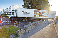 2019 09 20 M&S lorry crash at St Thomas area of Swansea, south Wales, UK