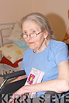 Margaret Hamilton Head and Shoulders on her 80th Birtyhday in Riverside Nursing Home, Abbeydorney on Thursdday....
