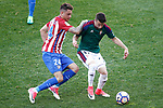 Atletico de Madrid's Jose Maria Gimenez (l) and Club Atletico Osasuna's Alex Berenguer during La Liga match. April 15,2017. (ALTERPHOTOS/Acero)