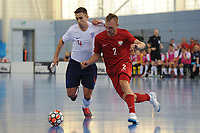 Douglas Reed of England and Amadeusz Pasierb of Poland during England vs Poland, International Futsal Friendly at St George's Park on 2nd June 2018