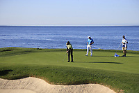 Bubba Watson (USA) putts on the 7th green during Sunday's Final Round of the 2018 AT&amp;T Pebble Beach Pro-Am, held on Pebble Beach Golf Course, Monterey,  California, USA. 11th February 2018.<br /> Picture: Eoin Clarke | Golffile<br /> <br /> <br /> All photos usage must carry mandatory copyright credit (&copy; Golffile | Eoin Clarke)